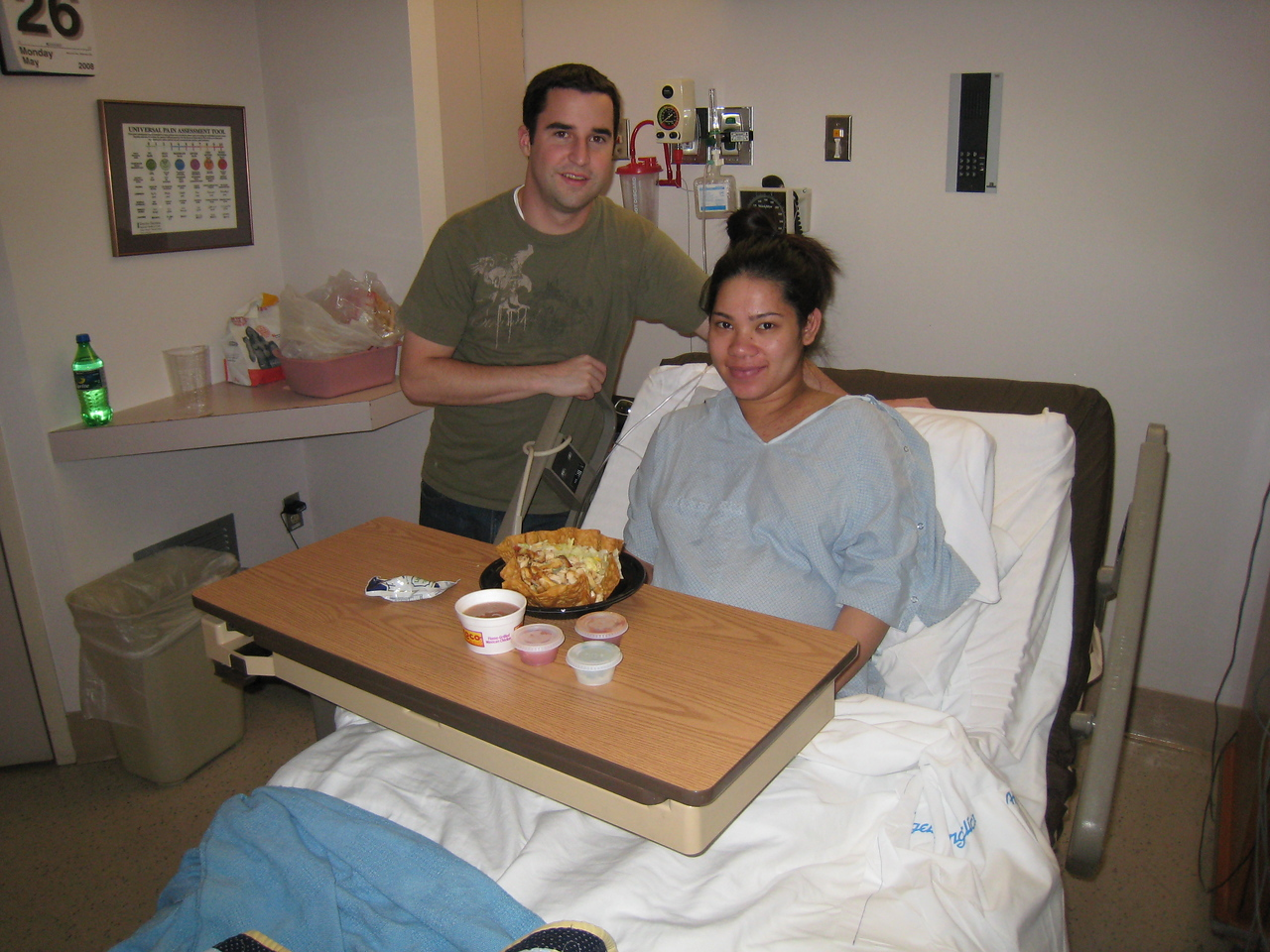 Nick and Karin in the hospital