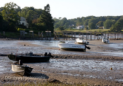 Low tide...the river near York Harbor.