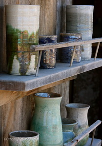 The pottery of Robert Jones...just had to buy a vase to add to my collection.  ;-)