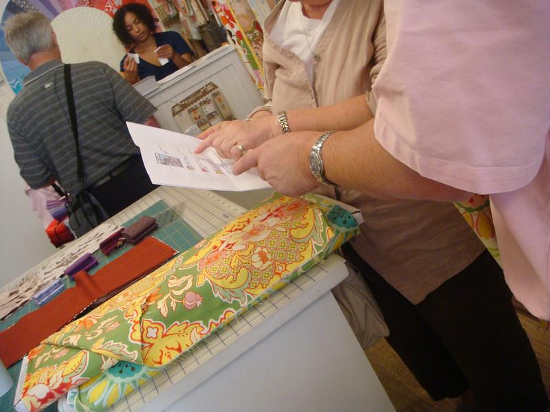 buying fabric in Purl