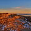 Dunes lit by setting sun - Parker River NWR, Massachusetts
