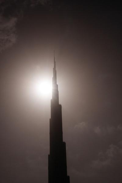 Burj Dubai, UAE at night