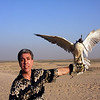 Ralph training a falcon in Dubai (UAE).