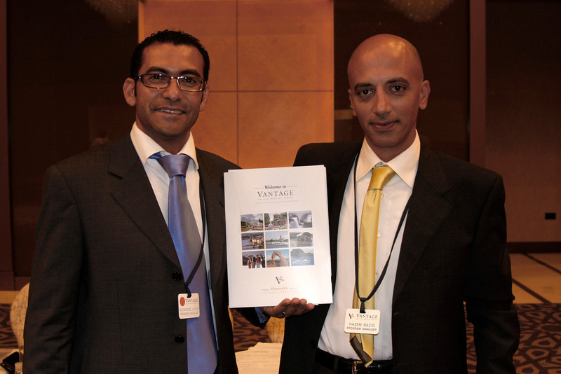 (Photo 7212)  Program Managers (Left) Mohamed Anwar and (Right) Hazem Bazid