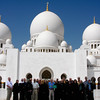 Group picture at Sheikh Zayed Mosque in Abu Dhabi