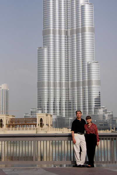 Ralph & Julie at Burj Dubai, UAE