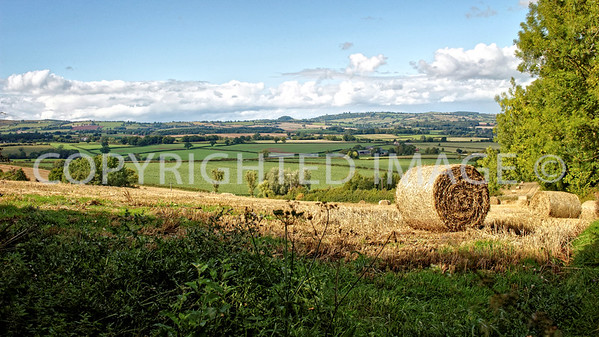 View from Hill Farm looking north towards Llancloudy