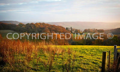 Late Autumn Landscape, view from Welsh Newton Common looking east