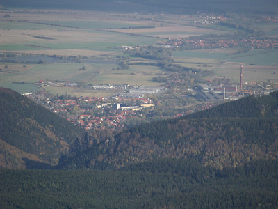 Looking down on Wenigerode from atop the Brocken.