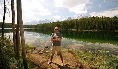 Herbert Lake & Main Range. Banff National Park, Alberta, Canada.