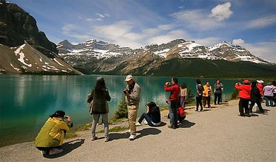 Uit de reeks: 'Zij waren er ook!' Bow Lake, Banff National Park, Alberta, Canada.