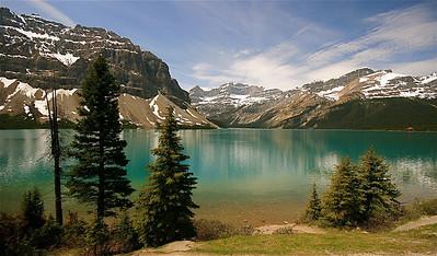Bow Lake. Banff National Park, Alberta, Canada.