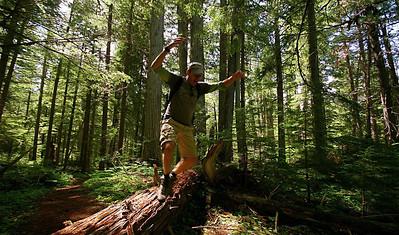 Uit de reeks: 'Jump!' West Lake Loop Trail @ Wells Gray Provincial Park. British Columbia, Canada.