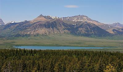 Where the mountains meet the prairie. Waterton Lakes National Park, Alberta, Canada.