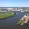 Schuykill River and Navy Yard drydock