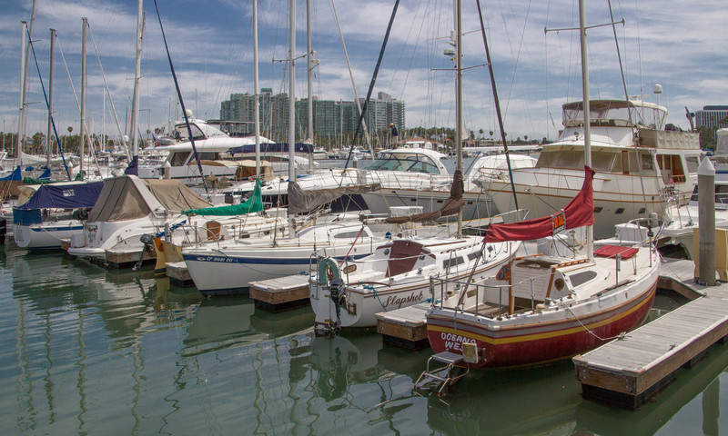At Marina Del Rey, the second dock in is where Allegro was kept - 1969-72