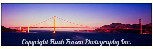 Sailing through the Golden Gate Bridge at 6 AM.....on a beautiful, sunny day....
