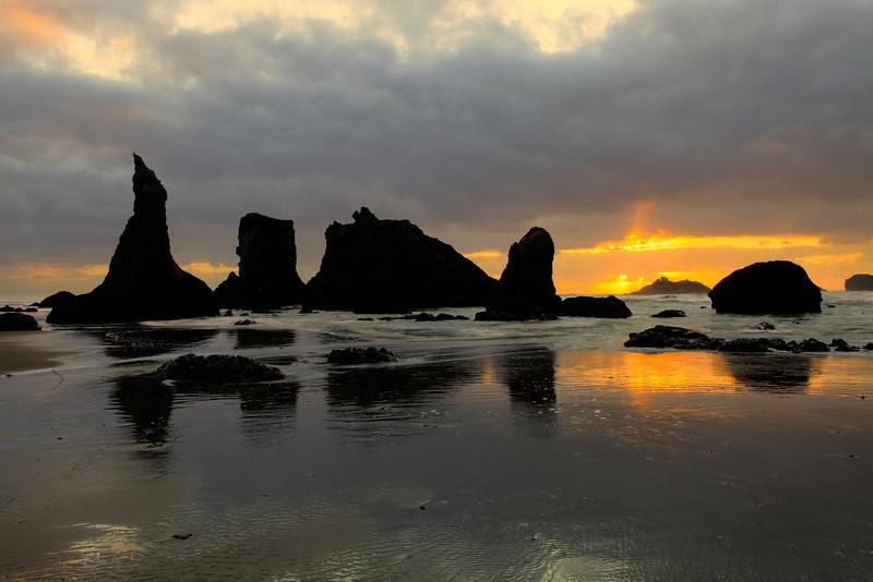 Sunset at Bandon, Oregon