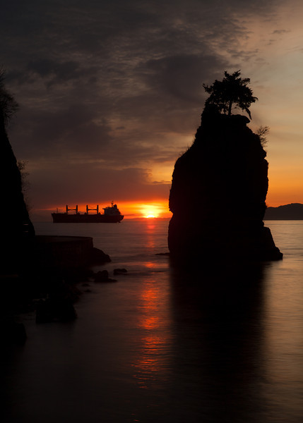 Sunset at Siwash Rock, Vancouver
