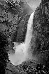 One of several spectacular waterfalls in Yosemite national park.
