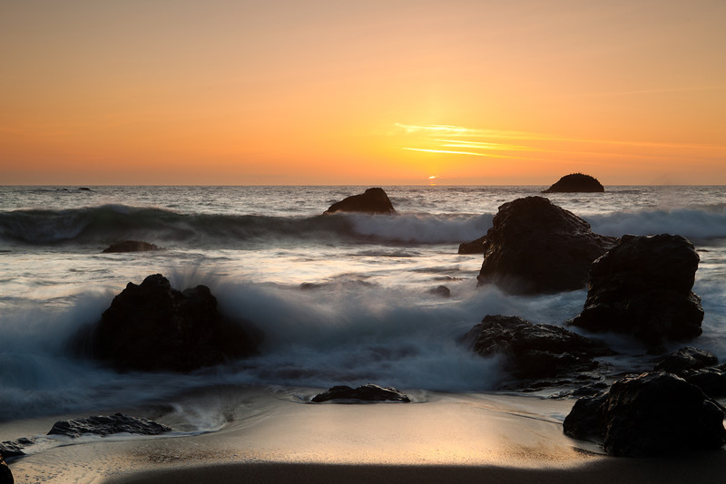 Sunset at Bodega Bay, California