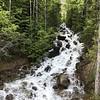 Waterfall near the dam