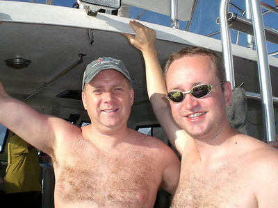 Bryan and Rick on the boat.
