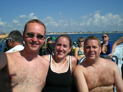 Rick, Stacy and Bryan on the boat.