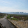 3/21 - We drove from Ft Davis to Terlingua, where we'd stay for two nights.<br /> River road along Mexican border<br /> (BW)