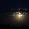 Clouds closing in on the moon<br /> (LW)