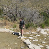 Hiking in McKittrick Canyon - Guadalupe National Park<br /> (BW)
