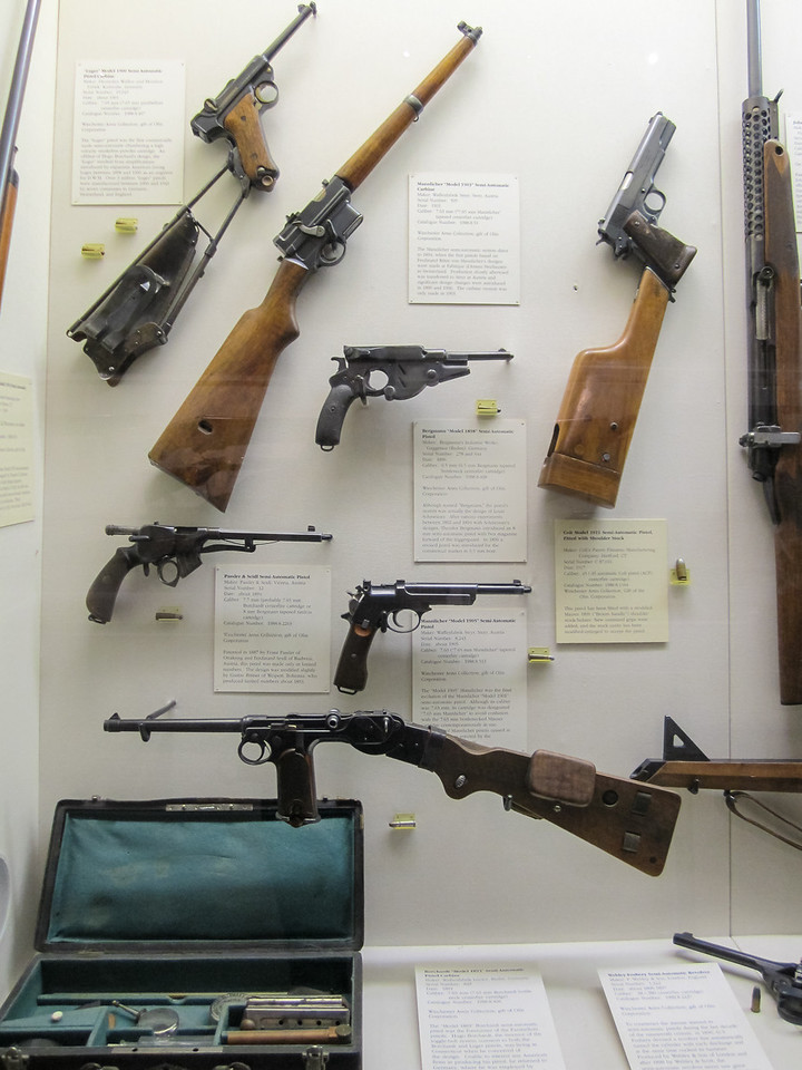 Semi-automatic pistols, Cody Firearms Museum, Buffalo Bill Historical Center