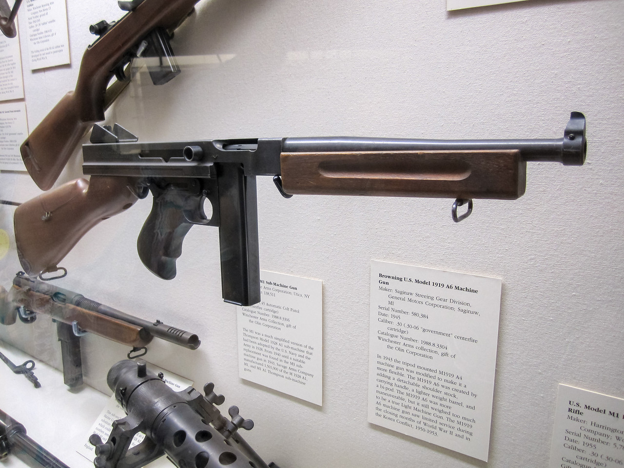 Browning M1 Submachine Gun, Cody Firearms Museum, Buffalo Bill Historical Center