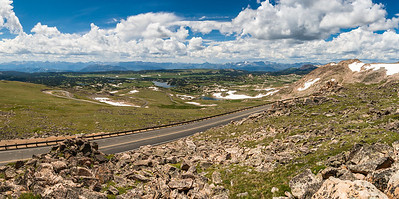 At 10,947 ft, the highest point on the Beartooth Highway, Wyoming