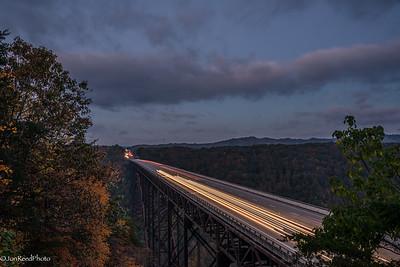 New River Bridge at dawn