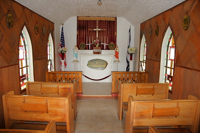 Interior of Our Lady of the Pines.