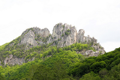 Seneca Rocks in the Monongahela Natl Forest in NE WV. Very popular with rock climbers.