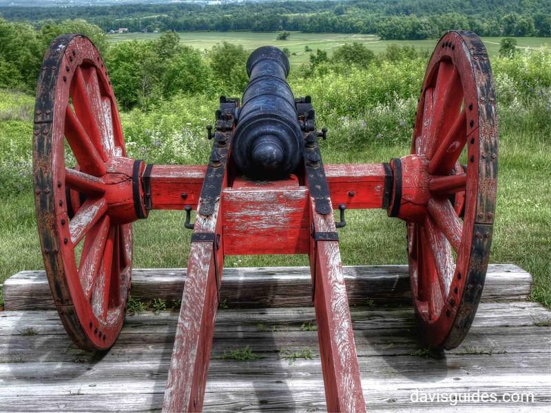 Revolutionary war cannon, Saratoga National Historical Park, NY