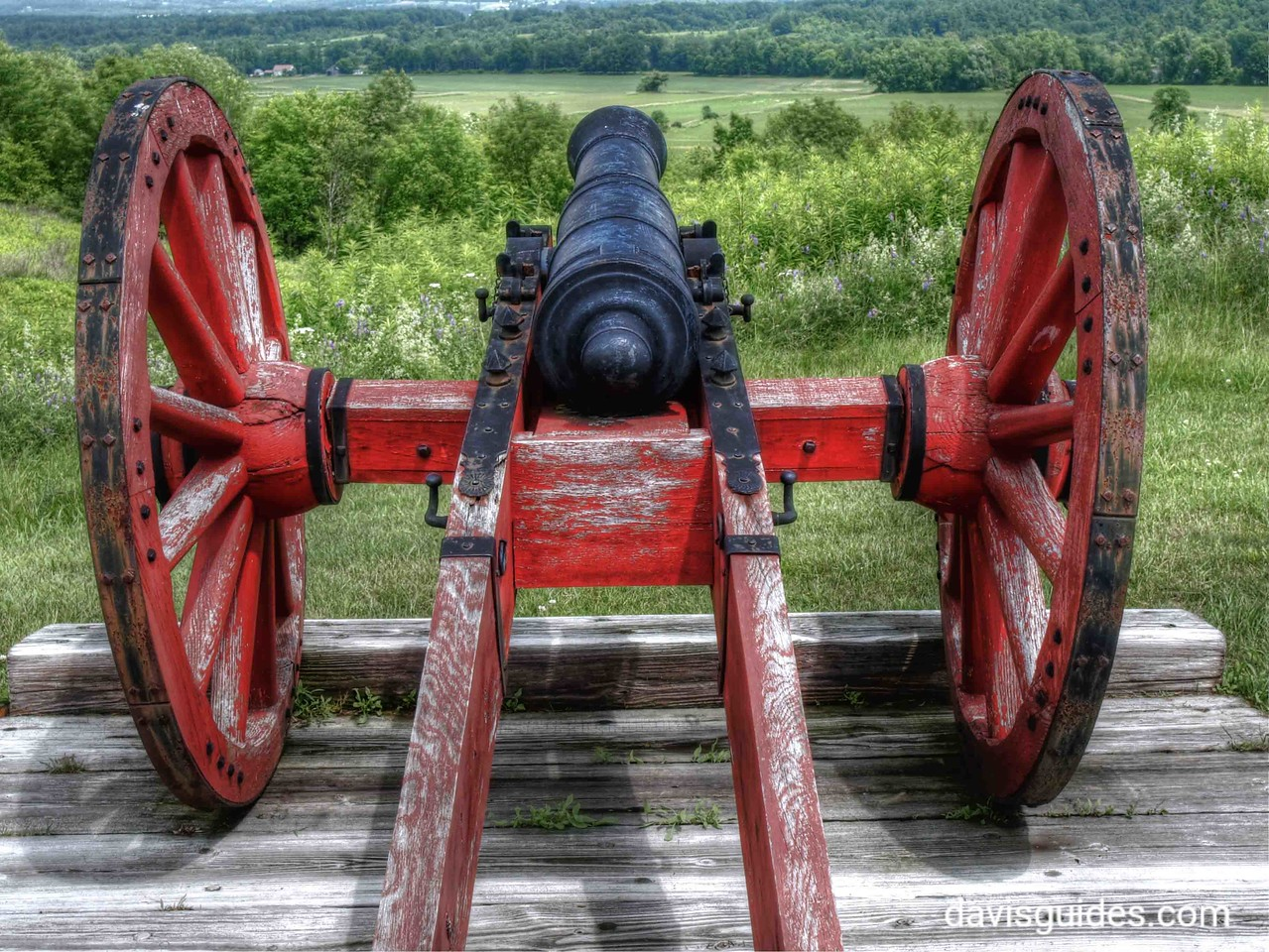 Revolutionary war cannon, Saratoga National Historical Park, NY
