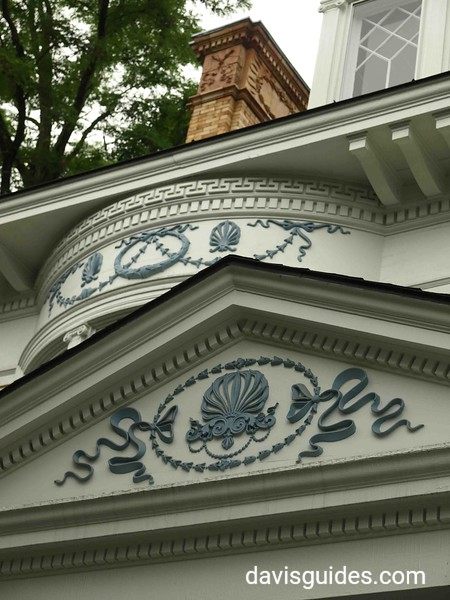 architectural details of a Victorian home, Saratoga NY