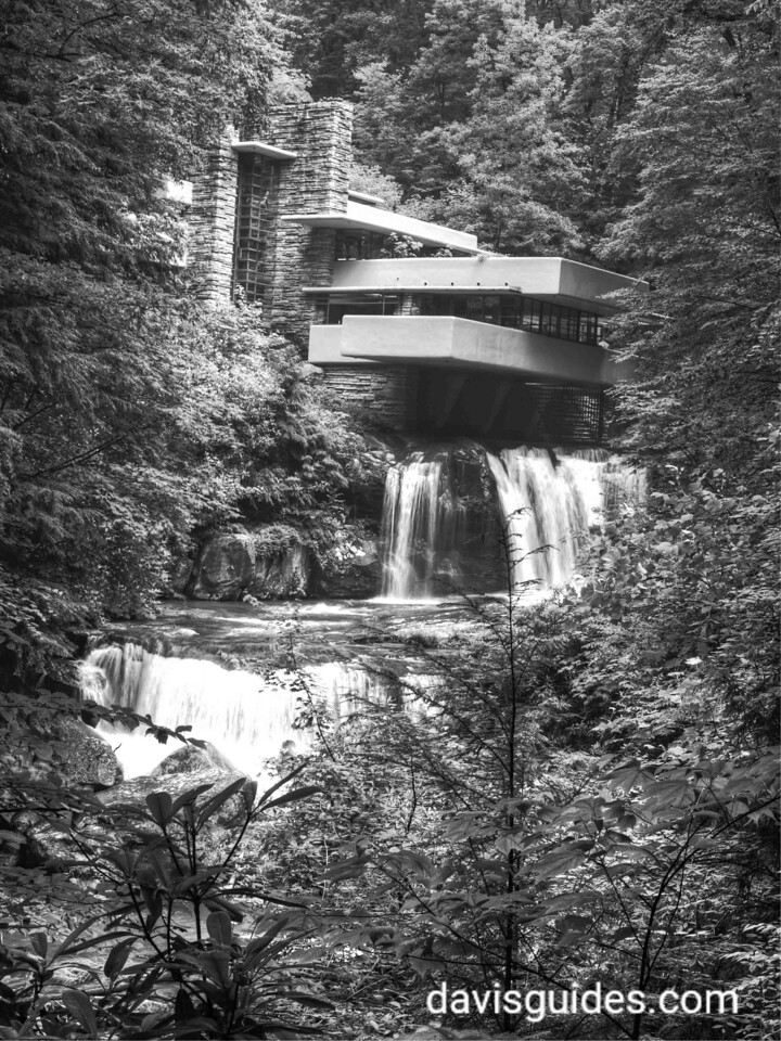Fallingwater - designed by Frank Lloyd Wright.