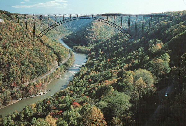 New River Gorge Area and Rafting, WV