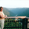 Kathy Pol on Overlook at Canyon Rim - New River Gorge National River Area, WV  9-1-01