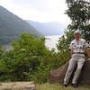 Randal on a Rock by the New River - Hinton, WV