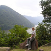 Donna on a Rock by the New River - Hinton, WV