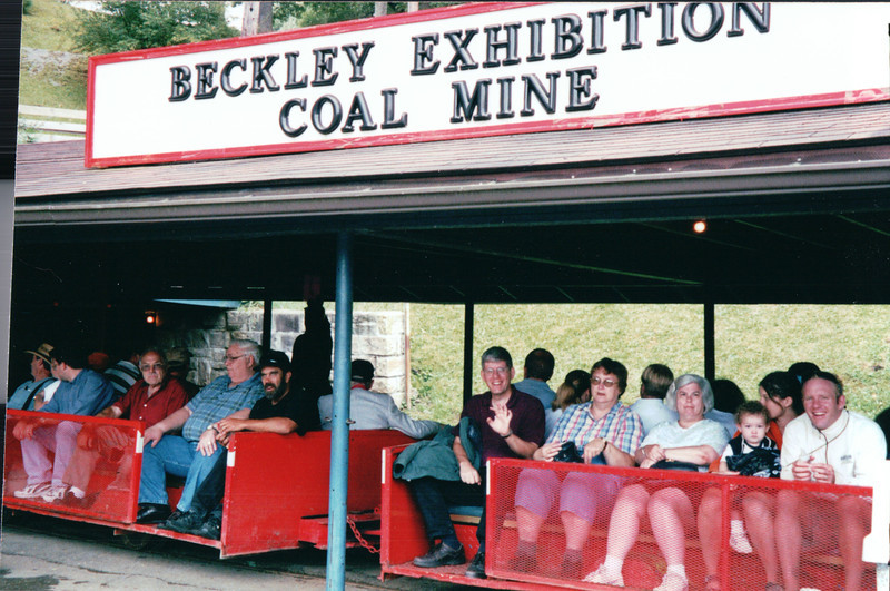Tram Ride to the Mine - Beckley Exhibition Coal Mine, Beckley, WV  9-1-01