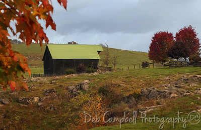 Old Black Barn Photographed along the back roads of West Virginia in Autumn.