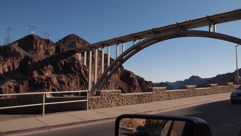 New bridge over the Colorado River and above Hoover Dam