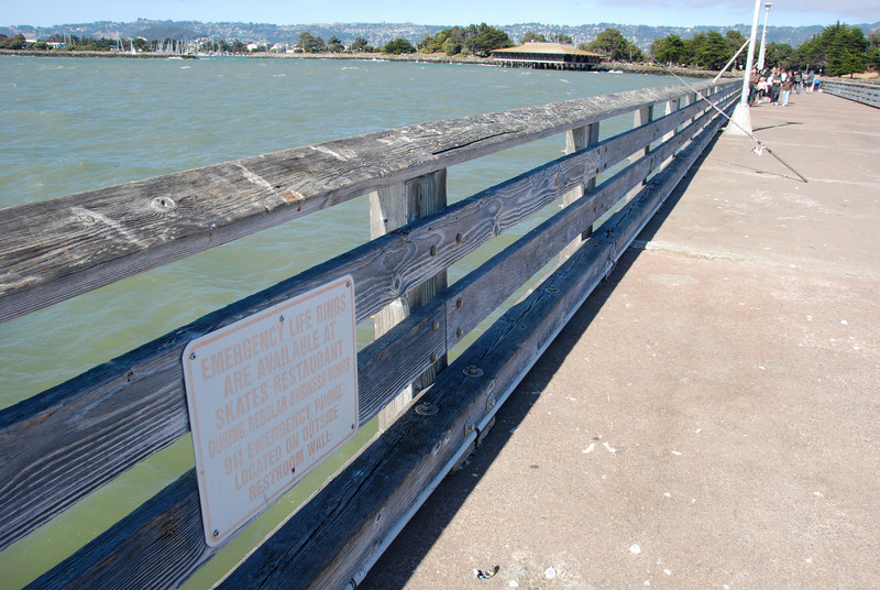 "<span id=""title"">Drowning? We got you covered.</span> Read the sign - the Skates restaurant is the building way in the distance near the beginning of the pier."