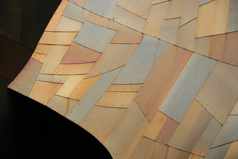 """<span id=""""title"""">Scales</span> Well, they look like scales to me. Part of the Experience Music Project."""